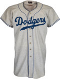 Baseball Collectibles:Uniforms, 1955 Sandy Koufax Game Worn Brooklyn Dodgers Rookie Jersey, MEARS A9.5....