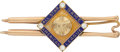 Baseball Collectibles:Others, 1939 Red Ruffing All-Star Game Presentational Tie Clasp. ...