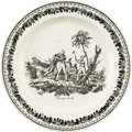 Antiques:Decorative Americana, [Spanish Texas]. Champ d'Asile Creamware Plate....