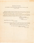Autographs:Statesmen, [Texas Annexation]. Printed Circular with Tilghman M. TuckerAutograph Letter Signed....