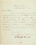 Autographs:Military Figures, [Mexican War]. General William J. Worth Letter Signed...