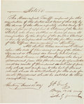 Autographs:Military Figures, [Mexican War]. Major Jubal Early Military Notice Signed...