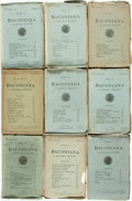 Books:Periodicals, [Periodicals.] Large Lot of Forty-Five Issues of Baconiana: AQuarterly Magazine, Spanning Years 1892-1917. Lond...