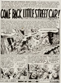 "Original Comic Art:Panel Pages, Jack Davis Panic #2 Page 1 ""Come Back, Little Street Car""Original Art (EC, 1954)...."