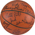 Basketball Collectibles:Balls, 1979 NBA All-Star Game Used Basketball Signed By Both Teams WithMaravich From Pistons Equipment Manager. ...