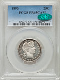 Proof Barber Quarters, 1893 25C PR65 Cameo PCGS. CAC....