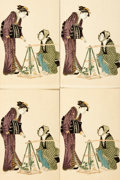 Miscellaneous:Postcards, [Japanese Postcards]. Group of Eleven with Hand-Coloring. ShimbiShoin, circa 1930. ...