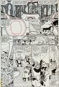 """George Perez and Dick Giordano Crisis on Infinite Earths #1 """"The Summoning"""" Page 13 Original Art (DC, 1985)..."""