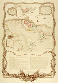 Books:Maps & Atlases, [Maps]. [Battle of Yorktown]. Large Reproduction Map of Yorktown, Showing Details and Movements of American, French and Britis...