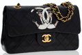 Luxury Accessories:Bags, Chanel One-of-a-Kind Black Quilted Lambskin Leather Small DoubleFlap Bag by Mike Fredeiqo . ...