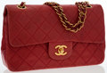 Luxury Accessories:Bags, Chanel Red Quilted Lambskin Leather Small Double Flap Bag with GoldHardware . ...