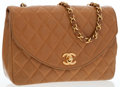 Luxury Accessories:Bags, Chanel Tan Quilted Lambskin Leather Small Flap Bag with GoldHardware . ...