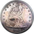 Patterns, 1865 $1 With Motto Dollar, Judd-434, Pollock-507, Low R.7, PR65 NGC. CAC....