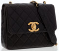 Luxury Accessories:Bags, Chanel Black Quilted Lambskin Leather Medium Flap Bag with GoldHardware . ...
