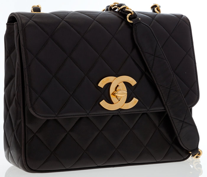 3781abef4915 Chanel Black Quilted Lambskin Leather Medium Flap Bag with
