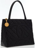 Luxury Accessories:Bags, Chanel Black Caviar Leather Medallion Tote Bag with Gold Hardware ....