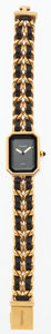 Luxury Accessories:Accessories, Chanel Premier Ladies Watch with Classic Gold Chain & BlackLeather Strap . ...