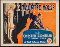 "Movie Posters:Horror, The Haunted House (First National, 1928). Title Lobby Card (11"" X 14""). Horror.. ..."