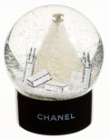 Luxury Accessories:Accessories, Chanel Black & White Holiday Snow Globe. ...