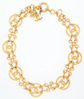 Luxury Accessories:Accessories, Chanel Gold CC Chain Necklace . ...