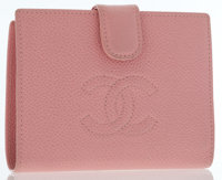 Chanel Pink Caviar Leather Bifold Wallet