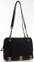 Luxury Accessories:Bags, Chanel Black Caviar Leather CC Tote Bag with Gold Hardware . ...