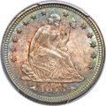 Seated Quarters, 1873 25C Arrows MS67 PCGS. CAC....
