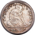 Seated Quarters, 1873-S 25C Arrows MS65 PCGS. CAC. Briggs 2-A....