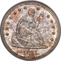 Seated Quarters, 1876-S 25C MS66 PCGS Secure. CAC....