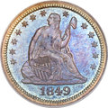 Proof Seated Quarters, 1849 25C PR66 PCGS. CAC. Briggs 4-C, R.7 as a proof. ...