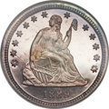 Proof Seated Quarters, 1889 25C PR68 NGC. CAC. Briggs 2-B....