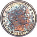 Barber Quarters, 1897 25C MS67 NGC. CAC....