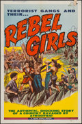"Movie Posters:Exploitation, Rebel Girls & Other Lot (Trans World, 1957). One Sheets (2) (27"" X 41""). Exploitation.. ... (Total: 2 Items)"