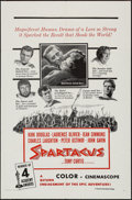 "Movie Posters:Action, Spartacus (Universal International, R-1960s). Military One Sheet (27"" X 41""). Action.. ..."
