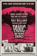 """Movie Posters:Science Fiction, Panic in Year Zero (American International, 1962). One Sheet (27"""" X 41"""") Style B. Science Fiction.. ..."""