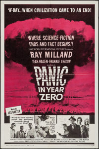 "Panic in Year Zero (American International, 1962). One Sheet (27"" X 41"") Style B. Science Fiction"
