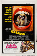 """Movie Posters:Horror, SSSSSSS/The Boy Who Cried Werewolf Combo (Universal, 1973). One Sheet (27"""" X 41""""). Horror.. ..."""