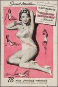 "Movie Posters:Short Subject, The World's Most Beautiful Girls (Universal International, 1950).One Sheet (27"" X 41""). Short Subject.. ..."