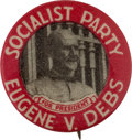 "Political:Pinback Buttons (1896-present), Eugene V. Debs: A Classic 1920 ""Convict Button.""..."