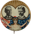 Political:Pinback Buttons (1896-present), Wilson & Marshall: A Choice, Rare Jugate in this 1 1/4-inchSize....
