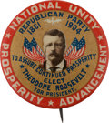 Political:Pinback Buttons (1896-present), Theodore Roosevelt: A Rare and Colorful 1 ¼-inch 1904-datedPinback....