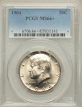 Kennedy Half Dollars: , 1964 50C MS66+ PCGS. PCGS Population (1034/34). NGC Census:(663/43). Mintage: 273,300,000. Numismedia Wsl. Price for probl...