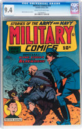 Golden Age (1938-1955):War, Military Comics #19 (Quality, 1943) CGC NM 9.4 Cream to off-whitepages....