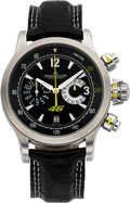 Timepieces:Wristwatch, Jaeger LeCoultre Ref. 146.8.25 Valentino Rossi Master Compressor Chronograph 1000 Hours, No. 683/746. ...