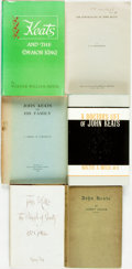 Books:Biography & Memoir, [John Keats]. Group of Six Books on John Keats. Various publishersand dates. ... (Total: 6 Items)