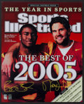 "Football Collectibles:Photos, Matt Leinart and Reggie Bush Signed Oversized ""Sports Illustrated"" Print...."