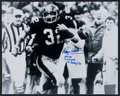 Football Collectibles:Photos, Franco Harris Signed Oversized Photograph....