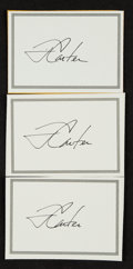 Miscellaneous Collectibles:General, Jimmy Carter Signed Book Plates Lot of 3. ...