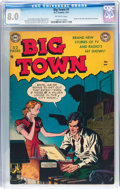 Golden Age (1938-1955):Crime, Big Town #1 (DC, 1951) CGC VF 8.0 Off-white pages....