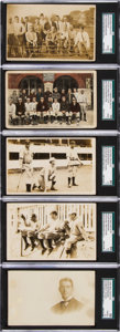 Baseball Cards:Lots, Early 20th Century Roger Bresnahan Post Card Collection (5). ...